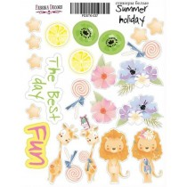 "Набор наклеек (стикеров) #037, ""Summer holiday-1"""