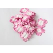 Гортензии Розовый+белый большие 5 см 1 шт