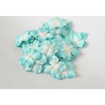 Гортензии Голубой+белый большие 5 см 1 шт