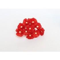 Цветы вишни средние - Красные 101, 1 шт.ак