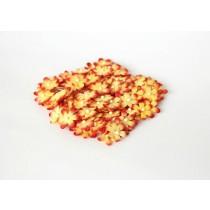 Цветочки маленькие 2 см - Красный+желтый 501 , 1 шт