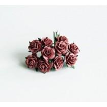 Mini розы 1,5 см - Каштановые 106, 1 шт