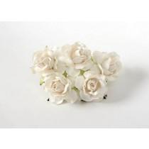 Кудрявые розы 4 см - Белые, 1 шт
