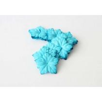 Лепестки пуансетии - бирюзовые 1 шт, диаметр 4 см