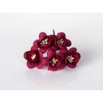 Цветы вишни - Бордовые, 1 шт
