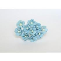 Цветы вишни средние - Голубые 170 1 шт 1,5-2см высота цветка 1 см длина стебля ок 7 см