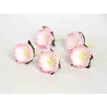 Шиповник - Розовый+белый 1 шт, диам ок.3 см, высота ок.1.5 см, длина стебля ок. 2.5 см