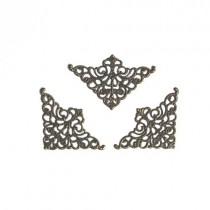 """Филигрань """"Треугольник"""", размер 5х3,2 см, металл цвет бронза, 1 шт."""