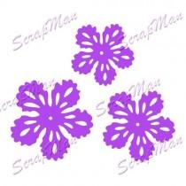 Набор ножей Flowers-2 (Цветы-2) от ScrapMan,  диаметр 4см, 3,5см и 3см