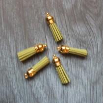 Кисточка из искуственной замши, 38 мм, цвет оливковый/золото