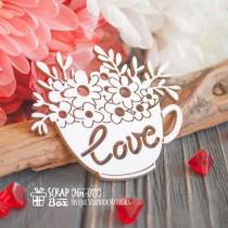 "Чашка с цветами "" Love"" Hm-077"