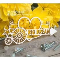 "Чипборд стимпанк ""Big Dream"" Размеры: 90 x 41 мм  Ht-051"
