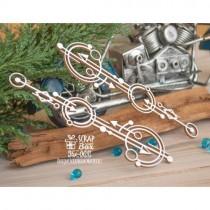 Чипборд геометрический бордюр круги со стрелочками 2 шт Hw-069