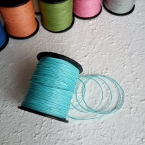 Шнур вощеный диам.1 мм., длина 1 м., голубой