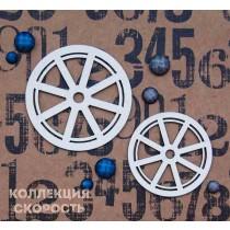 "Чипборд ""Набор Колеса 4"", размер 5 см и 4 см, 2 шт."