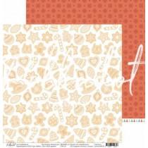 "Двусторонняя бумага Мой пряник коллекция ""Новый кот"", размер 30.5х30.5 см, пл. 190 гр\м2"