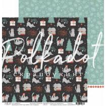 "Двусторонняя бумага Сорванец коллекция ""Новый кот"", размер 30.5х30.5 см, пл. 190 гр\м2"