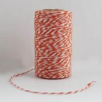 Шпагат хлопковый двухцветный оранжевый 1м