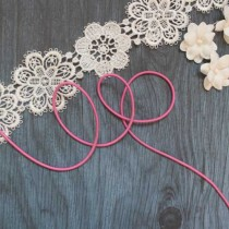 Резинка шляпная цв розовый яркий 2мм