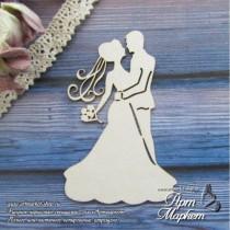 Свадебная пара № 3 РАЗМЕР: 7,5 х 4,9 см