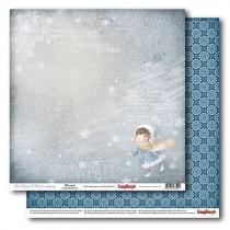 Бумага для скрапбукинга 30,5х30,5 см 190 гр/м двусторон Однажды Зимой Снег Кружится, 1 л.