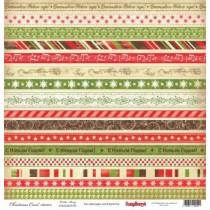 Бумага для скрапбукинга 30,5х30,5 см 180 гр/м Ночь перед Рождеством Рождественская Сказка, 1 лист