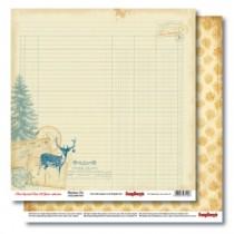 Бумага для скрапбукинга 30,5х30,5 см 190 гр/м двусторон С Рождеством! Письмо Деду Морозу