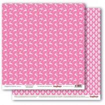 Бумага для скрапбукинга 30,5х30,5 см 190 гр/м, двусторон Зимние контрасты Звездная ночь. Розовое наваждение, 1 лист