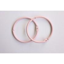Кольца для альбомов, 2 шт розовые 50 мм SCB 2504450