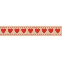 Бумажный скотч с принтом. Сердечки 15мм*8м