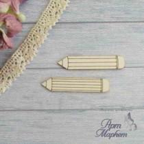 Два карандаша. размер: 4,5 х 1 см (каждый карандаш)