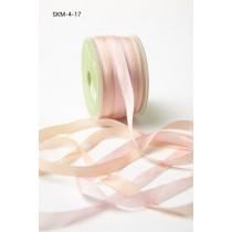 Лента May Arts Variegated Silk Ribbon, ширина 0,63 см, цвет Pink / champagne, 1 метр