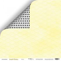 Лист двусторонней бумаги 30x30 от Scrapmir Волна из коллекции Simple Flowers