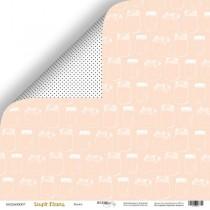 Лист двусторонней бумаги 30x30 от Scrapmir Банки из коллекции Simple Flowers