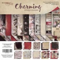 Набор двусторонней бумаги 30х30см от Scrapmir Charming (Очарование) 10л, плотность 190 г/м