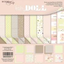 Набор двусторонней бумаги 30х30см от Scrapmir Doll Baby 10л, плотность 190 г/м
