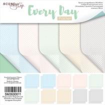 Набор двусторонней бумаги 30х30см от Scrapmir Every Day (Pastel) 10л, плотность 190 г/м