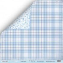 Лист двусторонней бумаги 30x30 от Scrapmir Синее Одеяло из коллекции Mommy's Hero, пл.190 г/м