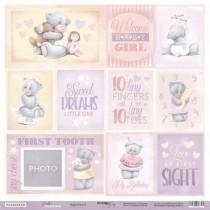 Лист односторонней бумаги 30x30 от Scrapmir Карточки 2 (ENG) из коллекции Daddy's Princess , пл.190 г/м