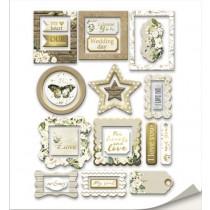 Рамки для фотографий с золотым фольгированием 25 шт от Scrapmir Tenderness