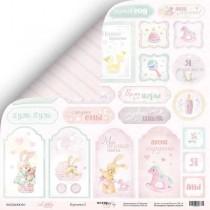 Лист двусторонней бумаги 30x30 от Scrapmir Карточки 2 из коллекции Little Bunny SM2400010