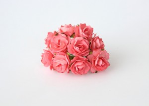 Кудрявые розы 2 см - Коралловые 1 шт