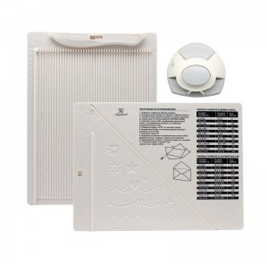 """Доска для создания конвертов и открыток в комплекте с дыроколом угла """"Рукоделие"""" (21,5x16,2x0,7см)"""
