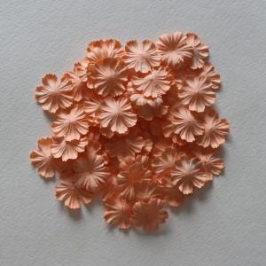 Плоский цветок пастель Оранжевый 1 шт