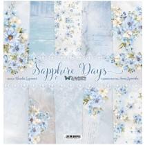 """Набор бумаги """"Sapphire Days"""" 30,5x30,5 см, 5 двусторонних листов, пл. 250 гр."""