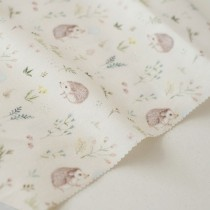"""Отрез ткани """"Forest story - Ежики в цветах"""" от Sisterscrap, 33х80 см"""