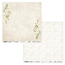 "Лист двусторонней бумаги ""Simple Story 3 beige 01/02"" 30,5х30,5 см., пл.250 гр"