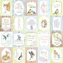 """Лист с карточками для декорирования коллекция """"Smile of spring"""" Набор №2, 30х30 см, 200 г/кв.м,  на английском языке FDSP-01014-2eng"""