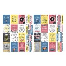 """Набор из 4-х полос с карточками для декорирования на русском и английском языках, размер 5см х 30,5см, коллекция  """"Specially for him"""""""