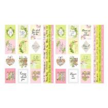 """Набор из 4-х полос с карточками для декорирования на русском и английском языках, размер 5см х 30,5см, коллекция  """"Spring blossom"""""""